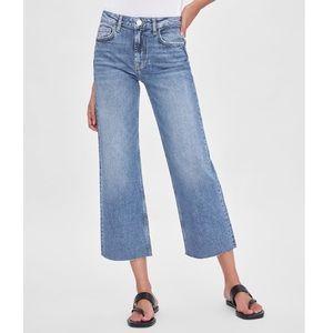 ZARA wide leg, high rise jeans -US 4